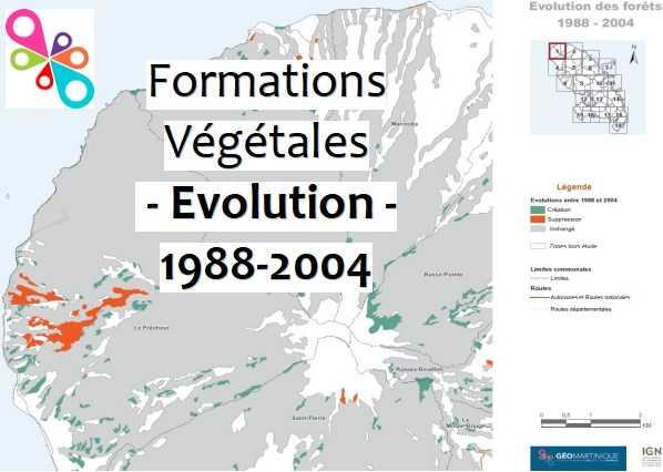 Atlas de l'Évolution de la Forêt en 1988 et 2004